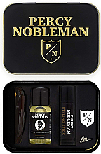 Parfumuri și produse cosmetice Set - Percy Nobleman (comb/1pcs + b/oil/10ml + wax/5ml + ass)