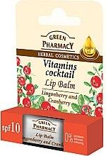 Parfumuri și produse cosmetice Balsam pentru buze cu extract de răchițele și merișor - Green Pharmacy Lip Balm With Lingonberry And Cranberry