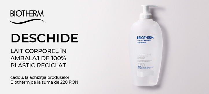 Primești cadou un concentrat, la achiziția produselor Biotherm de la suma de 220 RON