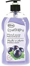 """Parfumuri și produse cosmetice Săpun lichid pentru mâini """"Coacăză și aloe vera"""" - Bluxcosmetics Naturaphy Hand Soap"""