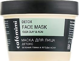"""Mască de față """"Detox"""" - Cafe Mimi Face Mask — Imagine N1"""