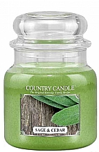 Parfumuri și produse cosmetice Lumânare aromatică - Country Candle Sage and Cedar