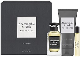 Parfumuri și produse cosmetice Abercrombie & Fitch Authentic Men - Set (edt/100ml + edt/15ml + sh/gel/200ml)
