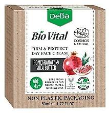 Parfumuri și produse cosmetice Cremă de zi pentru față 45+ - DeBa Bio Vital Firm and Protect Day Face Cream with Pomegranate Extract