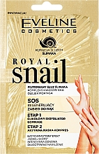 Parfumuri și produse cosmetice Mască-peeling pentru mâini - Eveline Cosmetics Royal Snail Sos Regenerating Hand Treatment