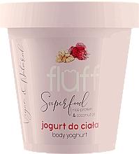 """Parfumuri și produse cosmetice Iaurt de corp """"Zmeură și Migdale"""" - Fluff Body Yogurt Raspberries and Almonds"""