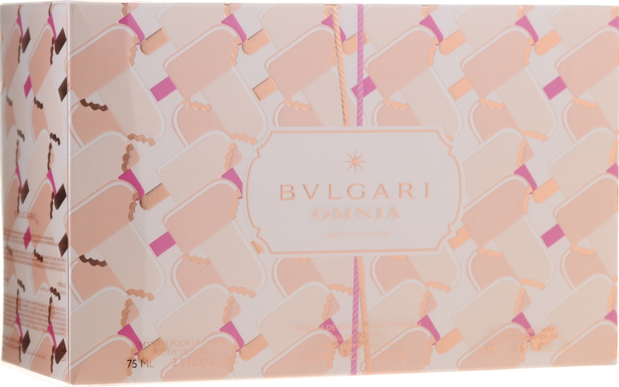 Bvlgari Omnia Crystalline - Set (edt/65ml + b/lot/75ml + sh/gel/75ml + pouch) — Imagine N1