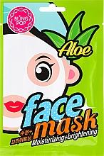 Parfumuri și produse cosmetice Mască de față - Bling Pop Aloe Moisturizing & Brightening Face Mask