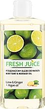 "Parfumuri și produse cosmetice Ulei pentru masaj ""Lime și Ghimbir"" - Fresh Juice Energy Lime&Ginger+Argan Oil"