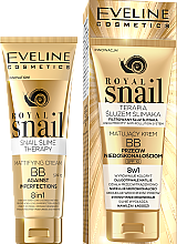 Parfumuri și produse cosmetice BB Cream, cu efect mat - Eveline Cosmetics Royal Snail BB Cream 8in1
