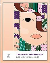 Parfumuri și produse cosmetice Mască regenerantă pentru față - You & Oil Anti-Aging & Regeneration Face Mask With Liposomes