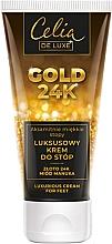 Parfumuri și produse cosmetice Cremă pentru picioare - Celia De Luxe Gold 24K Luxurious Foot Cream