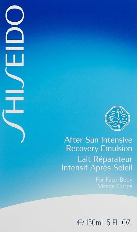 Emulsie după plajă cu efect de restabilire, pentru față - Shiseido Suncare After Sun Intensive Recovery Emulsion — Imagine N4