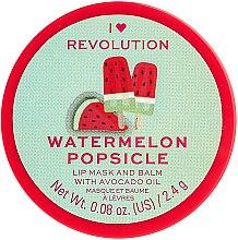 Balsam-mască de buze - I Heart Revolution Watermelon Popsicle Lip Mask & Balm — Imagine N1