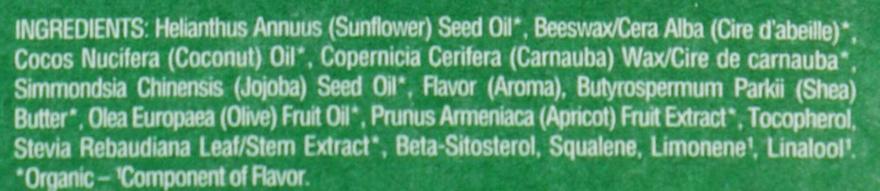 Balsam cu aromă de caise pentru buze - Eos 100% Natural Organic Apricot Lip Balm — Imagine N3