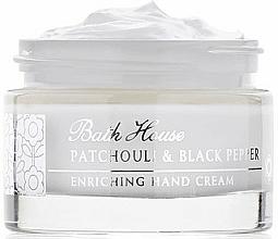 Parfumuri și produse cosmetice Bath House Patchouli & Black Pepper - Cremă de mâini