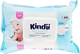 Parfumuri și produse cosmetice Șervețele umede pentru copii - Cleanic Kindii Skin Balance