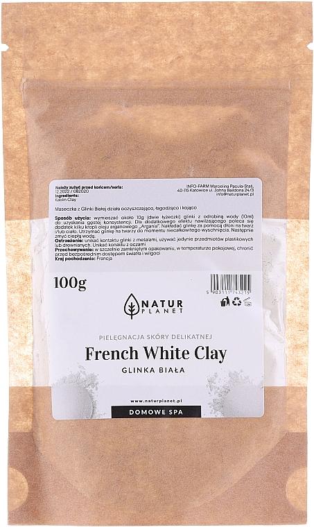 Mască de față - Natur Planet French White Clay