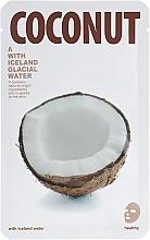 """Parfumuri și produse cosmetice Mască din țesătură cu efect iluminant pentru față """"Cocos"""" - The Iceland Coconut Mask"""