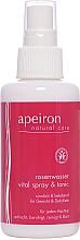 Parfumuri și produse cosmetice Spray cu apă de trandafir pentru față și gât - Apeiron Rose Water Vital-Spray