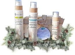 """Parfumuri și produse cosmetice Set """"Curățare"""" pentru ten normal și uscat - Shy Deer (emulsion/200ml + f/tonic/200ml + peeling/100ml + cotton pad + keychain)"""