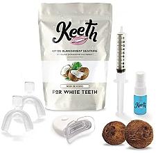 """Parfumuri și produse cosmetice Set pentru albirea dinților """"Cocos"""" - Keeth Coconut Teeth Whitening Kit"""