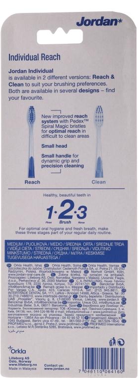 Periuță de dinți, Individual Reach, medie - Jordan Individual Reach Medium — Imagine N2