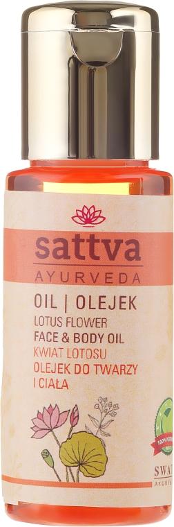 """Ulei de față și corp """"Floare de lotus"""" - Sattva Lotus Facial Oil — Imagine N1"""