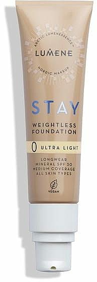 Fond de ten, rezistent - Lumene Stay Weightless Foundation Longwear Mineral SPF 30