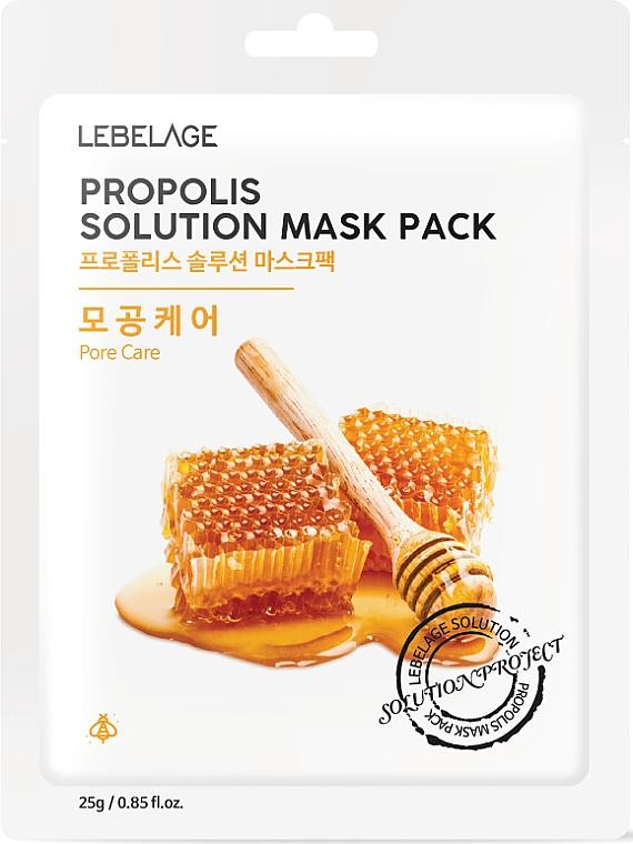 Mască din țesătură cu propolis pentru față - Lebelage Propolis Solution Mask
