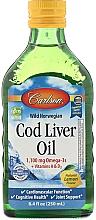 Parfumuri și produse cosmetice Ulei de ficat de cod sălbatic norvegian, aromă de lămâie - Carlson Labs Wild Norwegian Cod Liver Oil Natural Lemon Flavor 1100 mg