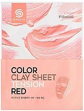 Parfumuri și produse cosmetice Mască facială pe bază de argilă - G9Skin Color Clay Sheet Tension Red