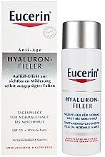 Parfumuri și produse cosmetice Cremă antirid pentru pielea normală și combinată - Eucerin Hyaluron-Filler Day Cream For Combination To Oily Skin