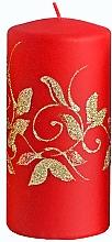 Parfumuri și produse cosmetice Lumânare decorativă, roșie, 7x10 cm - Artman Amelia
