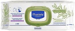 Parfumuri și produse cosmetice Șervețele umede - Mustela Cleansing Wipes With Olive Oil