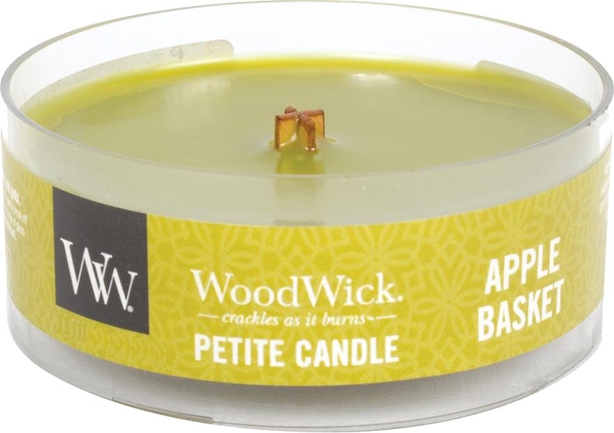 Lumânare parfumată în suport de sticlă - Woodwick Petite Candle Apple Basket — Imagine N1