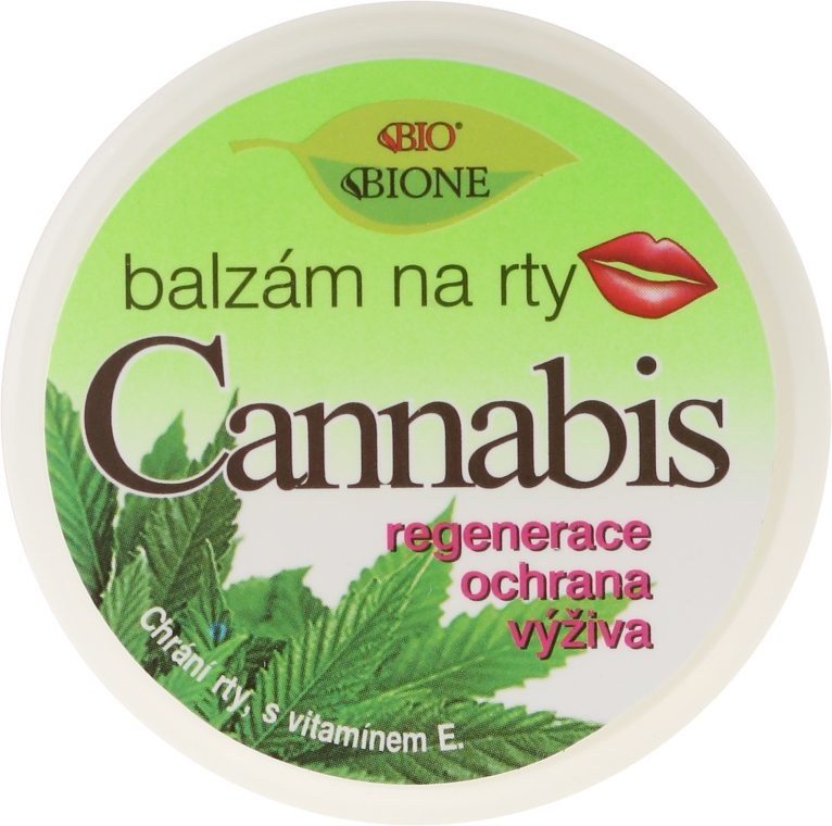 Balsam de buze - Bione Cosmetics Cannabis Lip Balm with UV Filter and Vitamin E