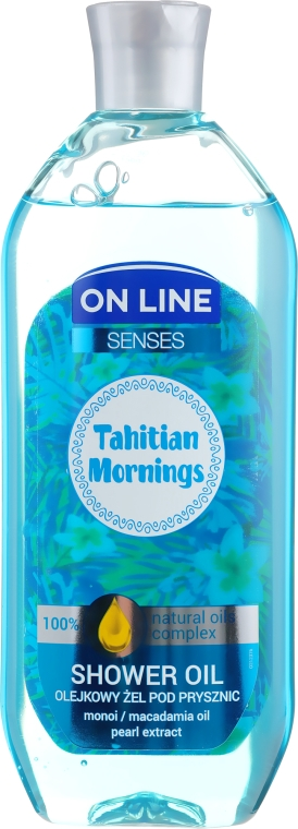 Ulei de duș - On Line Senses Shower Oil Tahitian Morning