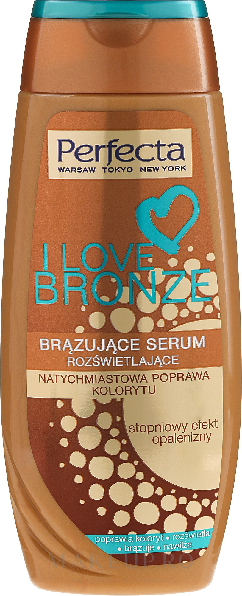 Autobronzant pentru corp - Perfecta I Love Bronze Serum — Imagine 250 ml