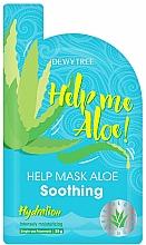 Parfumuri și produse cosmetice Mască calmantă pentru față - Dewytree Help Me Aloe! Soothing Mask
