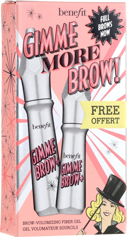 Set - Benefit Gimme More Brow! (brow/gel/3g+brow/gel/1.5g) (2 -Warm Glden Blonde) — Imagine N1