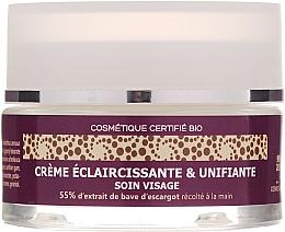 Parfumuri și produse cosmetice Cremă iluminatoare cu 55% mucus de melc pentru față - Mlle Agathe Face Cream