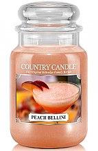 Parfumuri și produse cosmetice Lumânare aromată (borcan) - Country Candle Peach Bellini