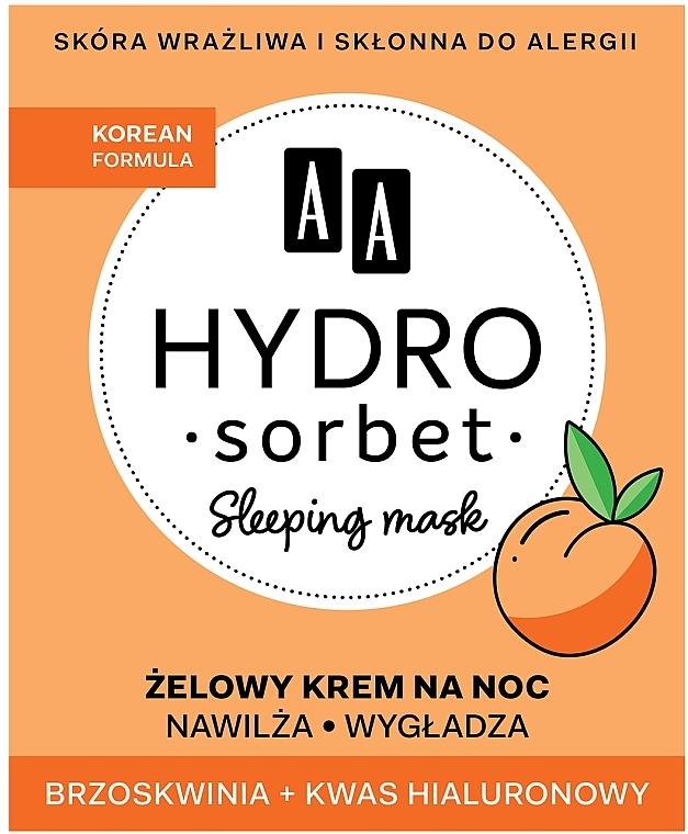 Mască de noapte pentru față - AA Hydro Sorbet Korean Formula Sleeping Mask