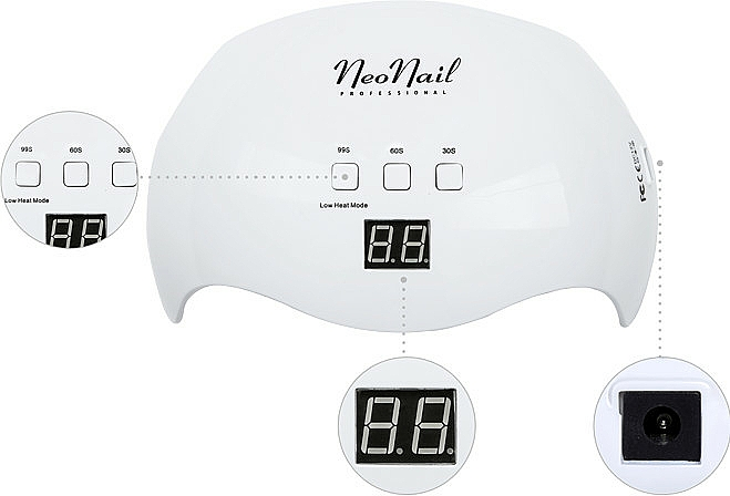 Lampă LED, albă - NeoNail Professional Lamp LED 18W/36 LCD Display — Imagine N2
