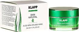 Parfumuri și produse cosmetice Mască de față - Klapp Skin Natural Aloe Vera Mousse Mask