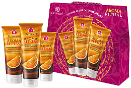 Parfumuri și produse cosmetice Set - Dermacol Aroma Ritual Belgian Chocolate (sh/gel/250ml + b/lot/200ml + h/cr/100ml)