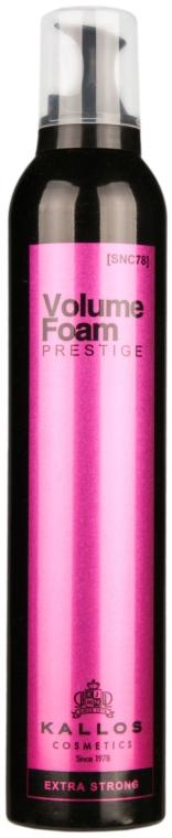 Spumă profesională pentru redarea volumului - Kallos Cosmetics Prestige Extra Strong Hold Professional Volume — Imagine N1