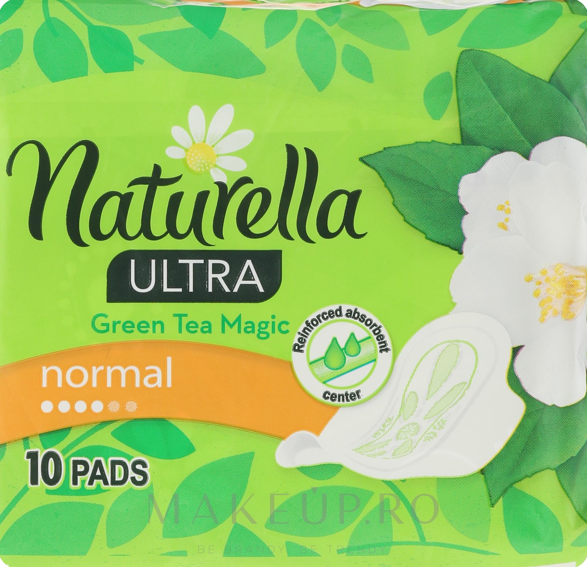 Absorbante, 10 bucăți - Naturella Green Tea Magic — Imagine 10 buc