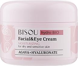 Parfumuri și produse cosmetice Cremă hidratantă pentru față și ochi - Bisou Hydro Bio Facial Eye Cream